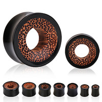 Buffalo Horn Tunnel Plug with Coconut Wood  Inlay