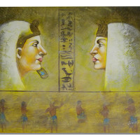 Faces of Egypt Canvas Wall Art