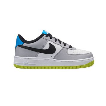 Nike Kid's Air Force 1 Low  GS Wolf Gray White