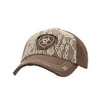 Ariat Women's Brown with Cream Lace Embroidered Logo Cap
