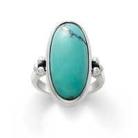Classic Oval Turquoise Ring | James Avery