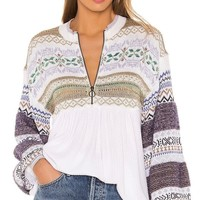 Free People Cozy Cottage Sweater White