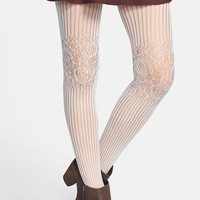 BP. Lace Knee Ribbed Tights (Juniors)   Nordstrom