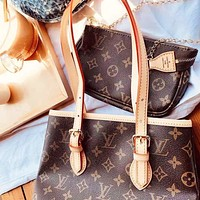 LV Louis Vuitton High Quality Fashion Women Shopping Bag Leather Shoulder Bag Satchel Handbag Crossbody Two Piece Set