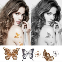 Butterflies & Love Wings Metallic Flash Temporary Tattoos 5 Sheet Set
