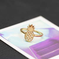 Pineapple Pattern Summer Fashion Style Lovely Women Gift - Ring for her = 4828008260