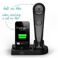 Good Call iG1HD Bluetooth Wireless High-Definition (HD) Audio Handset & iPhone Docking Station, Black (works with iPhone 5, 4, 4S, 3, 3S, Android & all Bluetooth devices)
