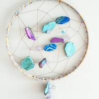 Dream Catcher- DreamCatcher- Turquoise Wall Decor- Wall Accent- Bohemian decor- Boho Decor- Native- Home Decor- Hippie- Gypsy- Mermaid Decor
