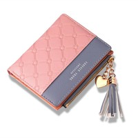 Leather Small Women MINI Wallet Luxury Brand Famous Mini Womens Wallets And Purses Short Female Coin Purse Credit Card Holder