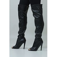On Demand Leather Knee High Boots