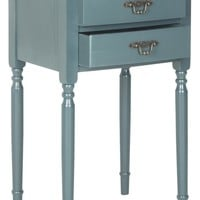 Marilyn End Table With Storage Drawers Teal