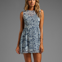 DV by Dolce Vita Eniko Lace Print Dress in Blue