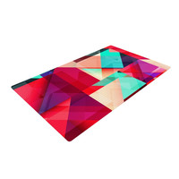 "Danny Ivan ""Still New"" Red Pink Woven Area Rug"