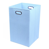 Modern Littles Sky Folding Laundry Basket