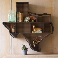 Texas Cubby Wall Shelf - Eclectic - Display And Wall Shelves - atlanta - by Iron Accents