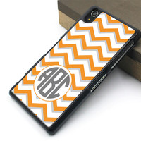 Sony cover,orange chevron Sony xperia Z case,girl's gift xperia Z1 case,orange chevron xperia Z2 case,art chevron xperia Z3 case,Christmas present
