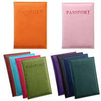 Travel Passport ID Card Cover Holder Case Faux Leather Protector Skin Organizer 922D