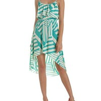 Ruffle Bust Hi-Low Dress: Charlotte Russe