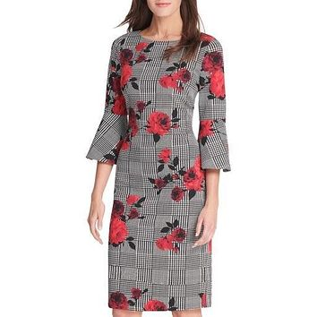 Jessica Howard Womens Dress Sheath Houndstooth Floral  Various Sizes, Colors