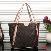 Perfect Louis Vuitton Women Fashion Leather Satchel Shoulder Bag Handbag