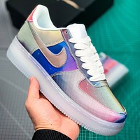 NIKE Air Air Force New fashion hook laser couple shoes