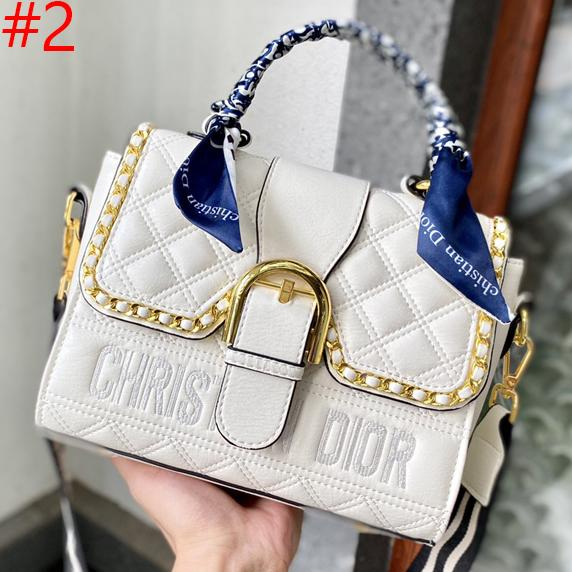 Image of Christian Dior embroidered letters stitching color ladies shopping handbags shoulder bag diagonal bag #2