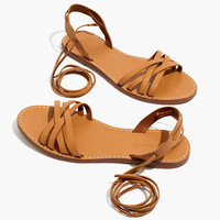 The Boardwalk Woven Lace-Up Sandal