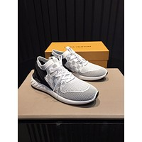 LV Louis Vuitton Men's Flyknit Fashion Sneakers Shoes