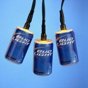 Budweiser Novelty Christmas Lights - Quantity Of 6 - Officially Licensed
