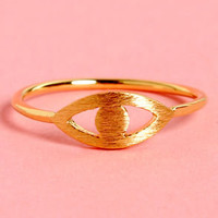 Vision Quest Gold Eye Ring