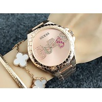 GUESS 2018 men and women with the same paragraph simple and stylish quartz watch F-Fushida-8899 5