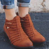 Blazing Trails Booties - Cognac