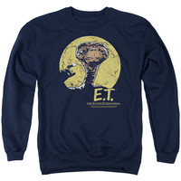 E.T. the Extra-Terrestrial Moon Frame Navy Crewneck Sweatshirt
