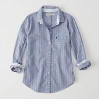 Womens Striped Oxford Shirt | Womens Tops | Abercrombie.com