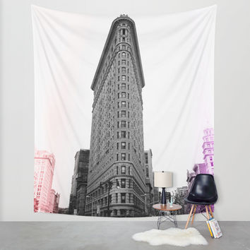 Flatiron Pop Wall Tapestry by The Dreamery