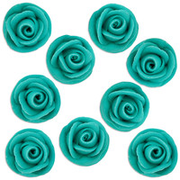 Teal Icing Roses