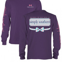 "Simply Southern ""Tie That Binds Us"" Longsleeve- Purple"