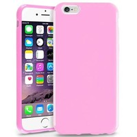 """Insten Light Pink Jelly TPU Slim Skin Gel Rubber Cover Case For Apple iPhone 6 4.7"""" Inches - Walmart.com"""