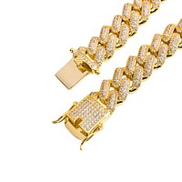 Men's 14K Yellow Gold 13MM Cuban Chain Necklace