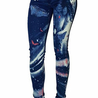 Wild N' Free Painted Mid-Rise Jeans