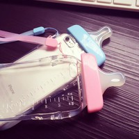 Baby Bottle Clear Phone Case