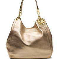 Michael Michael Kors Large Metallic Fulton Shoulder Tote