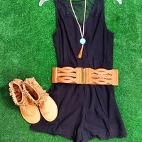 SOMETHING TO TALK ABOUT LACE ROMPER