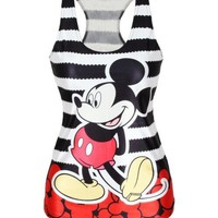 Drop Shipping summer new 2014 women t-shirt RIBS 3D Vest tops Skull bone Camisole Sexy Tank top Despicable mickymouse