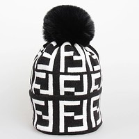 FENDI Winter Hot Sale Fashionable Women Men Jacquard Knit Warm Hat Cap