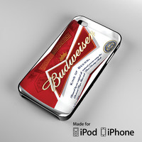 Budweiser King Of Beers A1395 iPhone 4 4S 5 5S 5C 6, iPod Touch 4 5 Cases