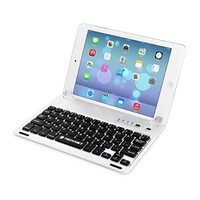 TeckNet X361 iPad Mini Bluetooth Keyboard Cover with Built-in Stand Groove for iPad mini with Retina Display - Silver