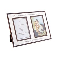 "From The Moment They Placed You Double 5""x 7"" Copper & Glass Photo Frame"