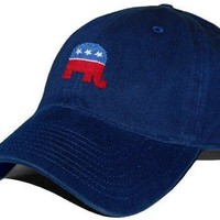 Republican Needlepoint Hat in Navy by Smathers & Branson