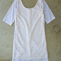Detailed Lace Sheath Dress [3316] - $38.40 : Vintage Inspired Clothing & Affordable Fall Frocks, deloom | Modern. Vintage. Crafted.